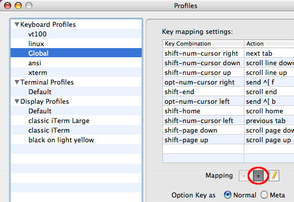 Word movement shortcuts for iTerm on Mac OS X
