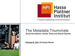 The Metadata Triumvirate - Screenshot of Presentation